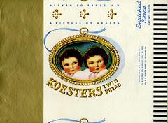 Koester's Twin Bread Wrapper