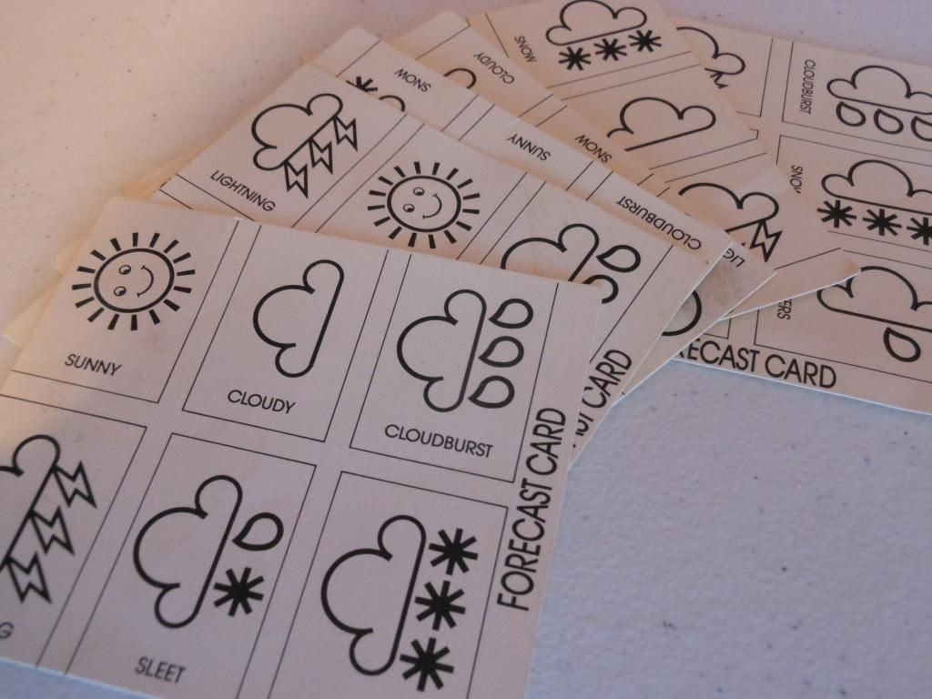 The Weather Game forecast cards