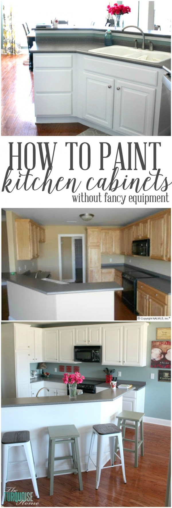 Paint Kitchen Cabinets without Fancy Equipment