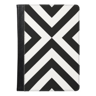 Black and White Chevrons Geometric Pattern