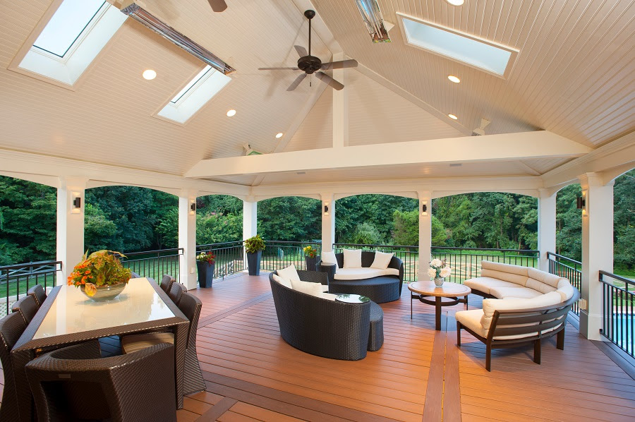 Great Screen Porch Contractor In Vienna Va With Azek Pvc Pool Decking