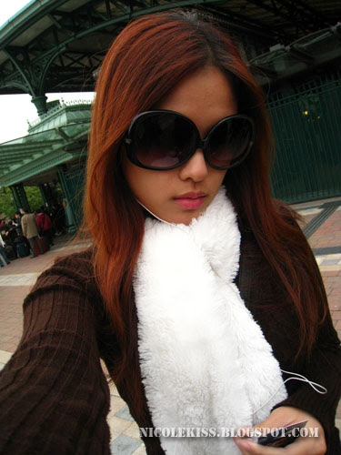 me in white scarf