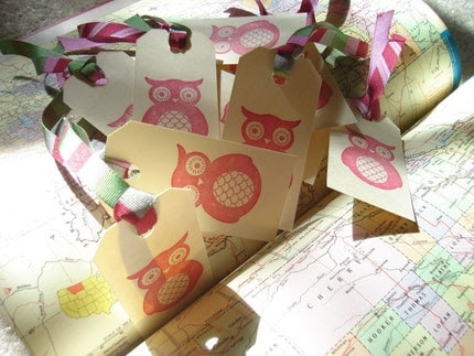 Owl Gift Tags/Bookmarks--10 Count
