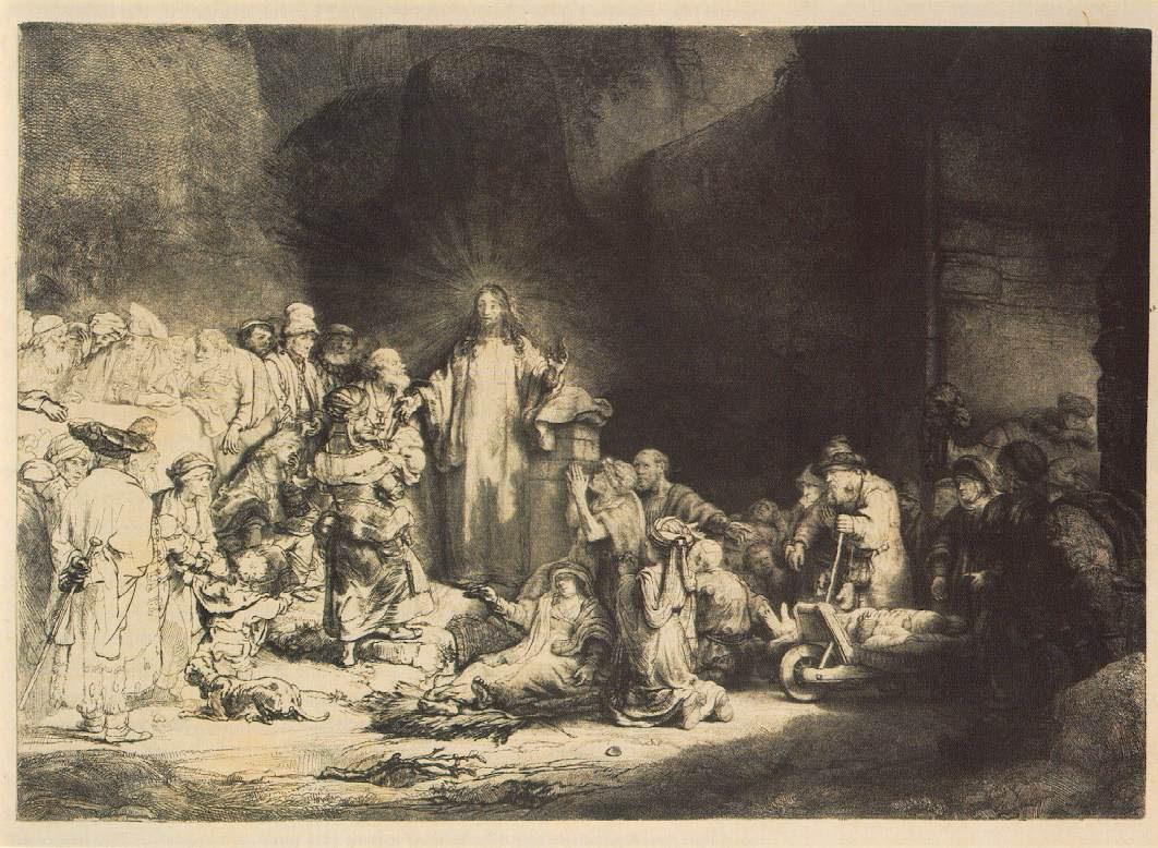 Rembrandt Hundred Guilder Print