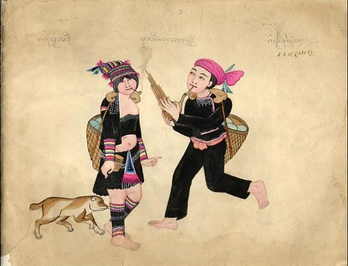 Tribes of Burma - Kaw (Ahkra) 1900