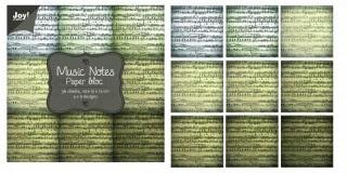 Noor! Design - Paper blok Music Notes