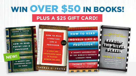Win a Full Library of HOW TO READ LIKE A PROFESSOR Books (+ a $25 Gift Card!)