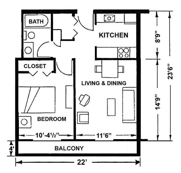 1 Bedroom Apartments Apartment Layout 1 Bedroom