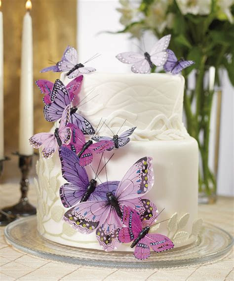 purple butterfly butterflies wedding cake decorations ebay