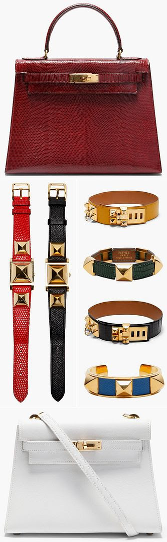 LE FASHION BLOG VINTAGE HERMES BAG ACCESSORIES CROC BLACK PATENT GOLD COLLIER CHIEN ORANGE BLUE RED BURGUNDY GREEN STUDDED CUFF LIZARD KELLY TOTE OSTRICH BIRKIN BELTS CONSTANCE TWO TONE MEDOR WATCH