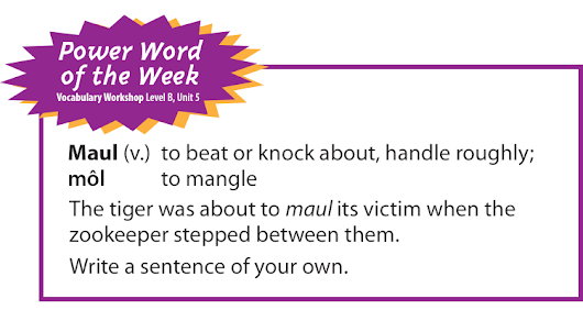 Power Word of the Week: Maul