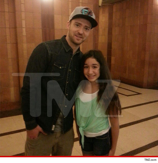Justin Timberlake Stops Media Frenzy To Spend Time With 13