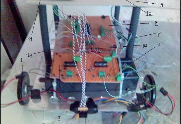 Robot-dc-motor-L298-isis-sharp-gp2y0d340k-cảm biến-Proteus-robot