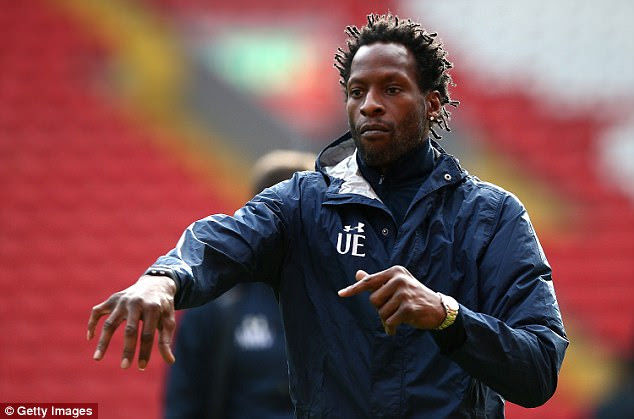 Tottenham Under 23 coach Ugo Ehiogu has been taken to hospital after collapsing