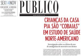 Tema foi manchete do PÚBLICO em Novembro de 2003