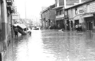 Resultat d'imatges de Les inundacions del riu llobregat 1962 1971