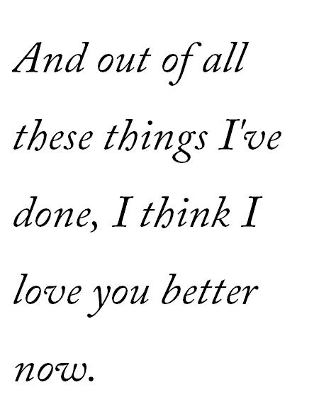 I Think I Love You Better Now Ed Sheeran Lyrics