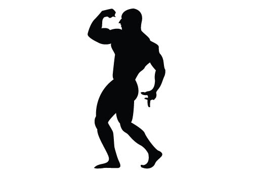 Bodybuilder Silhouette Vector Free Download