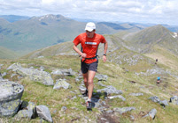 Spyke approaching the second summit - A' Chralaig