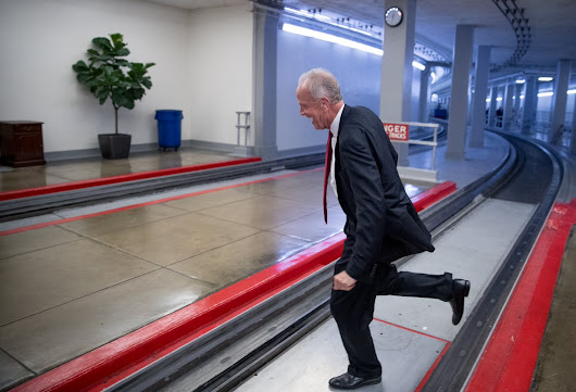 Sen. Jerry Moran jumps across subway tracks to escape reporters