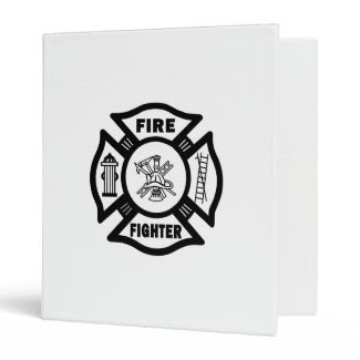 Firefighter Fire Dept 3 Ring Binders