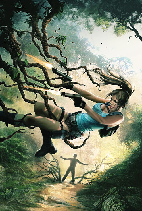 Lara Croft and the Frozen Omen #1. Cover by Jean-Sébastien Rossbach.