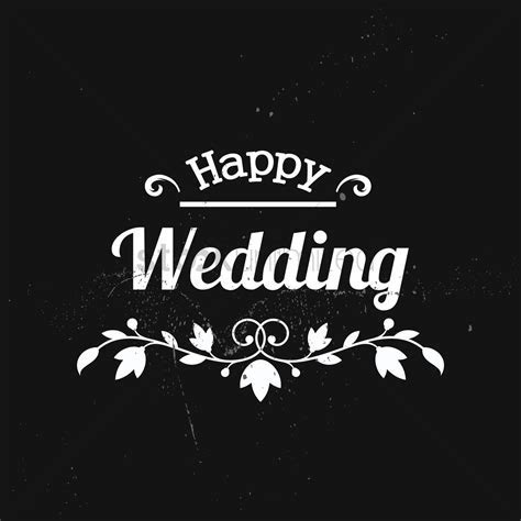 Happy wedding card Vector Image   1511301   StockUnlimited