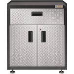 Gladiator Ready to Assemble 3/4-Door Modular GearBox - Cupboard - modular - 2 doors - steel - silver tread