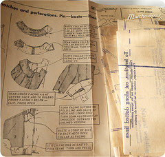 Vintage pattern and instructions