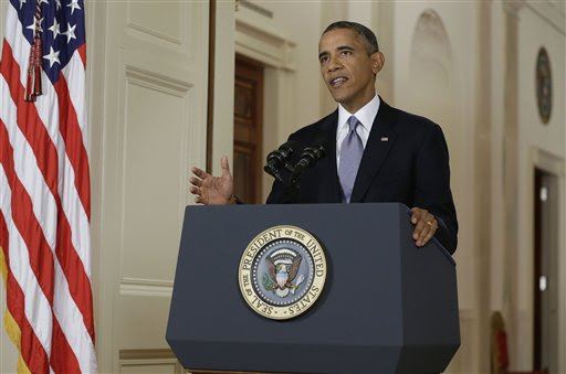 Obama emphasizes right to strike, but all eyes on diplomatic efforts with Syria