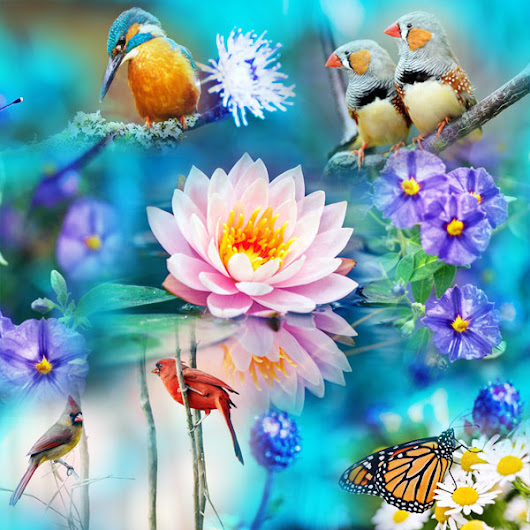 "New set of puzzles ""Flying and flowers 1"""