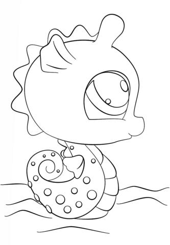 Dibujo De Caballito De Mar De Littlest Pet Shop Para Colorear