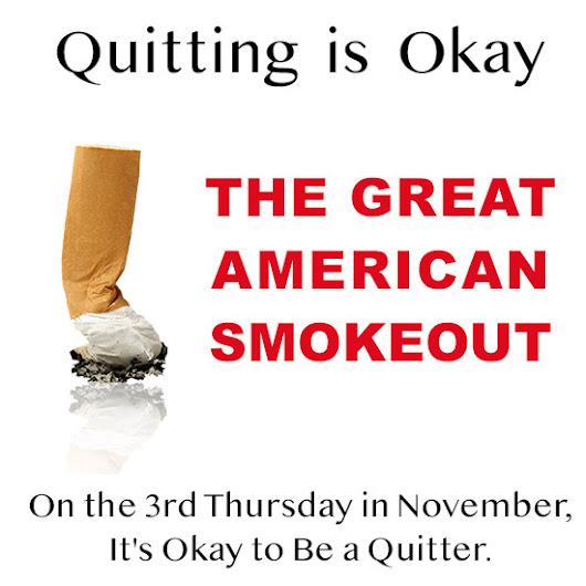 Great American Smokeout - The 3rd Thursday of November - Inspire Malibu