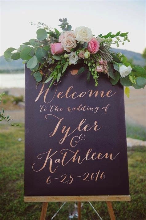17 Best ideas about Wedding Welcome Signs on Pinterest