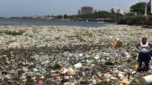 See wave of garbage off the Dominican Republic - CNN Video