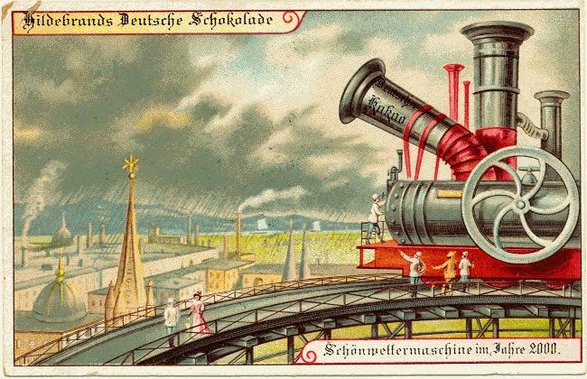 carte postale 2000 futur 06 En 1900, des cartes postales imaginent lan 2000  histoire featured design