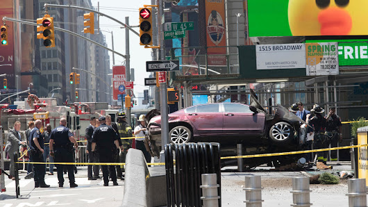 Before Driver's Times Square Crash, a Descent Into Paranoia and Harassment
