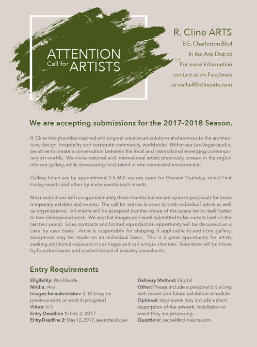 Art Consultants Accepting Artist Submissions for 2017 – 2018 Season