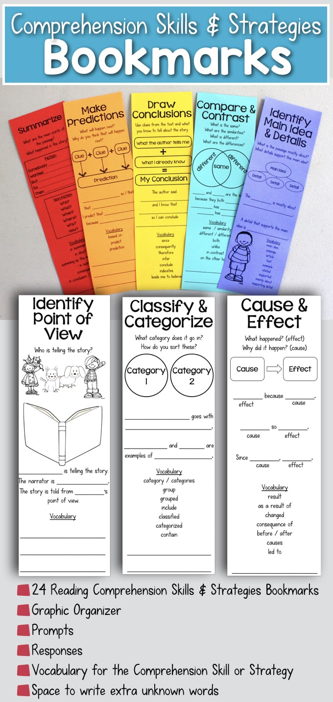 Reading Prehension Bookmarks To Support Academic Language