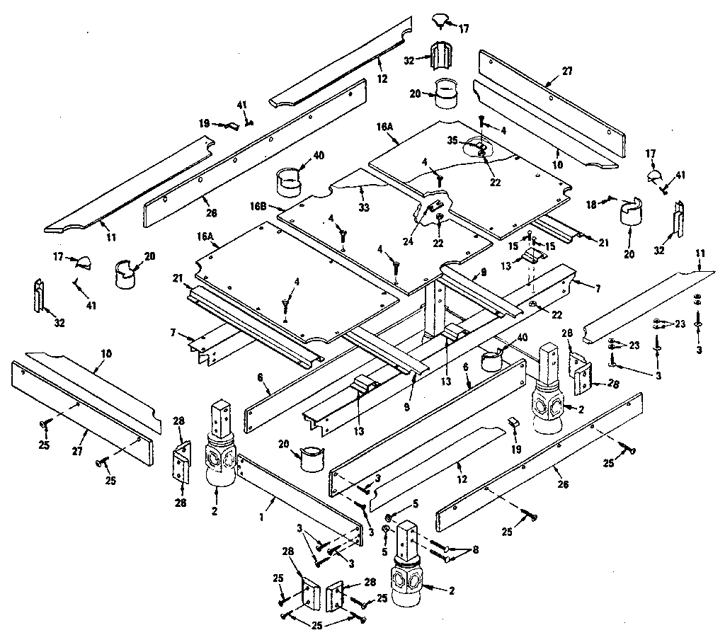 35 Pool Table Parts Diagram