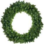 Canadian Pine Artificial Christmas Wreath - 36-Inch, Unlit by Christmas Central