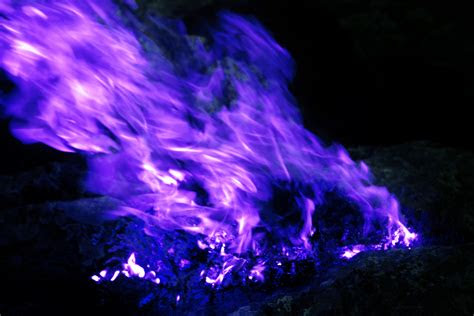 stock photo  black blue blue fire