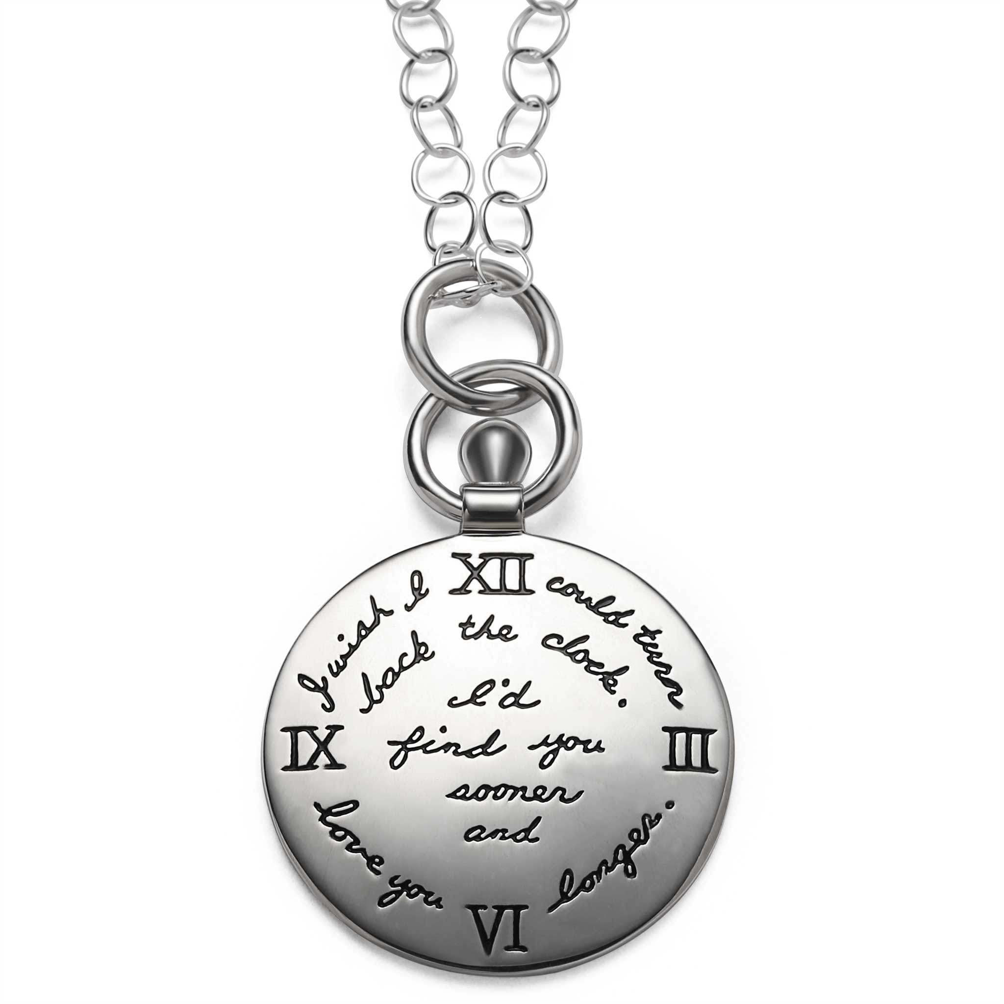 Turn Back Time Quote Clock Necklace Bb Becker