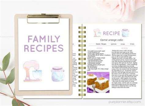 printable recipe template lovely editable recipe pages