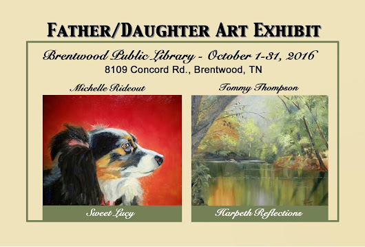 Father-daughter duo to display art at Brentwood Library next month