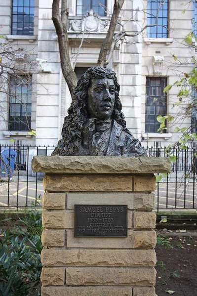 File:Bust of Samuel Pepys, Seething Lane, London EC3 - geograph.org.uk - 1077498.jpg