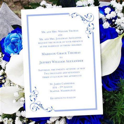 "Printable Wedding Invitation Template ""Elegance"" Royal"