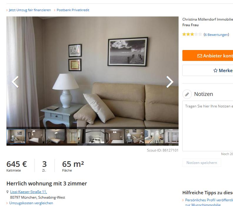 wohnungsbetrugblogspotcom Vorkassebetrger im gehacktengeklonten MaklerAccount auf