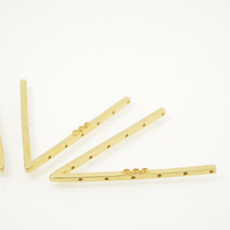 s49020 Finding -  V Frame - Bright Brass