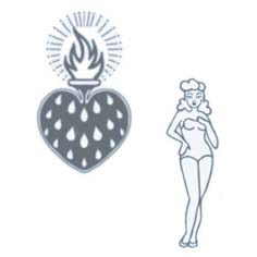 Tattoo Transfer Old School Corazon Y Pin Up May Tattoo